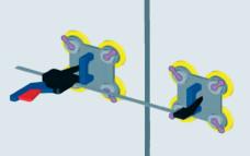 Соединение панелей с помощью инструмента Quick Grip.